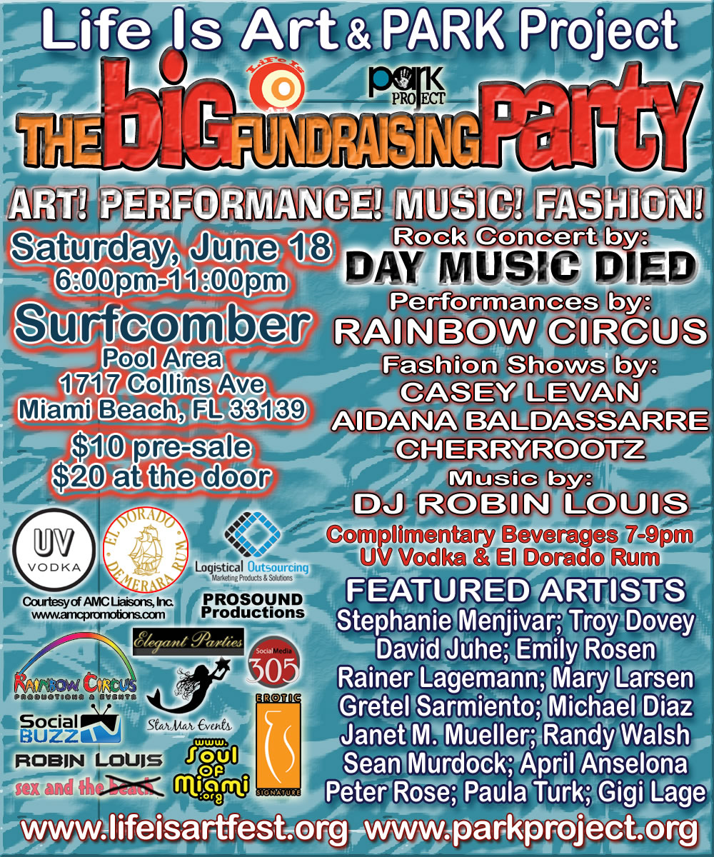 EVENT #40 the BIG fundraising PARTY June 18, 2011
