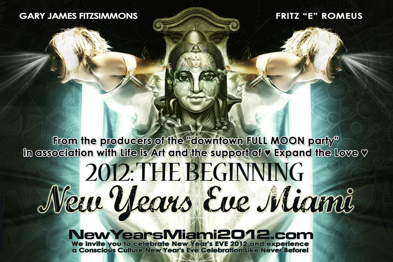 2012 The Beginning New Year's Eve Miami benefiting Life Is Art December 31, 2011