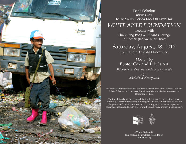 Life Is Art supports the White Aisle Foundation South Florida Kick Off Event on August 18, 2012
