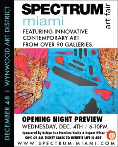 Spectrum Art Fair supports Life Is Art during Art Basel Week December 4-8, 2013