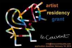From auzits: Call for Artsts for Artist Residency Grant Deadline february 18 2014