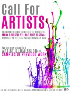 From Mary Brickell Village: Call for Artsts for Mary Brickell Village Art Festival Deadline Sept 12, 2014