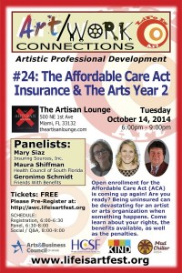 EVENT #92 Art/Work Connections Seminar #24:  The Affordable Care Act and The Arts Year 2 October 14, 2014