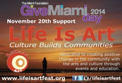 Save the Date and Your Money for Give Miami Day on November 20, 2014