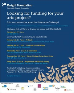 From Knight Foundation: Knight Art Challenge Deadline February 23, 2015