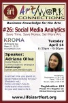 EVENT #104 Art/Work Connections Seminar #26: Social Media Analytics at Kroma April 14, 2015