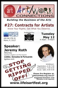 EVENT #106 Art/Work Connections Seminar #27:  Contract Negotiation for Artists and Creatives on May 12, 2015