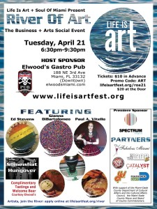 EVENT #105 River Of Art #21 Business + Arts Social Event April 21, 2015