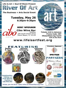 EVENT #108 River Of Art #22 Business + Arts Social Event at Cibo Wine Bar on May 26, 2015