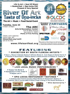 EVENT #110 A Very Special River Of Art and Taste of Opa-locka June 23, 2015