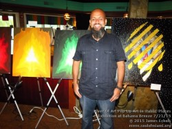 Photographs of River Of Art Pop-Up Art-in-Public-Places Exhibition and Social Mixer at Bahama Breeze on 7/21/15