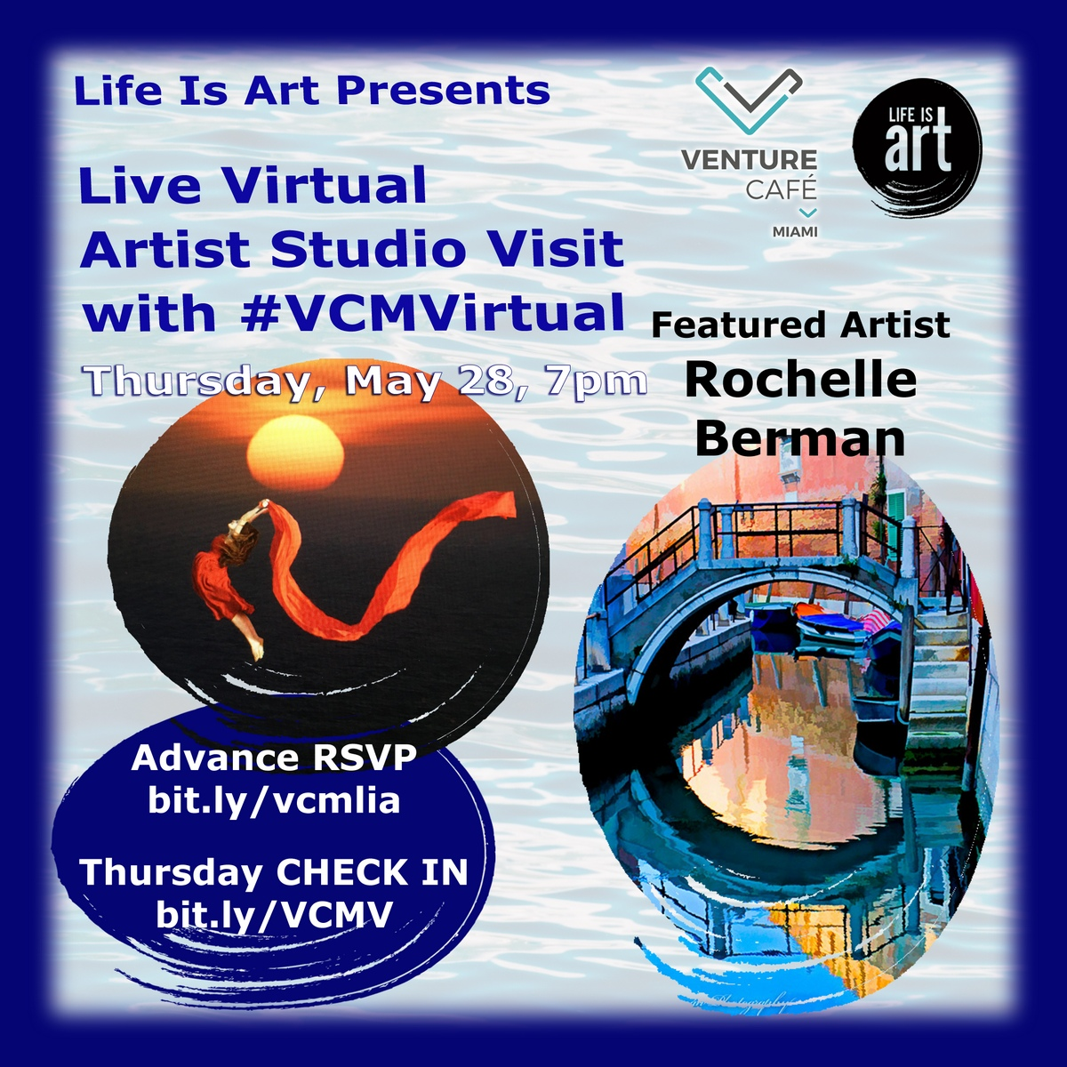Live Artist Visit with Rochelle Berman at #VCMVirtual on May 28, 2020