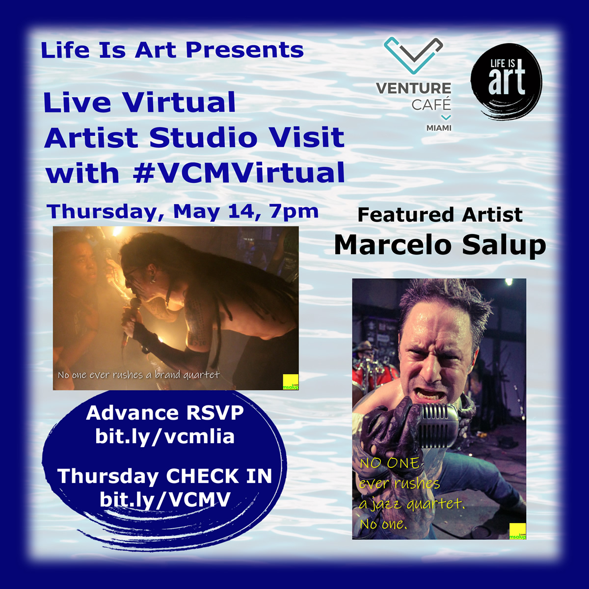Live Virtual Artist Studio Visit with Marcelo Salup at #VCMVirtual on May 14th