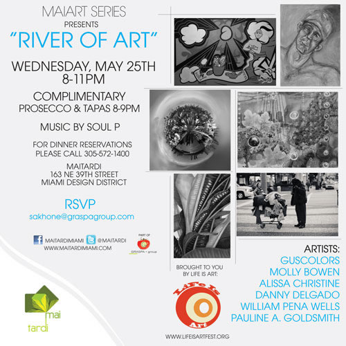EVENT #39 MaiArt Presents River Of Art at MaiTardi on May 25, 2011