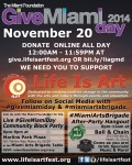 EVENT #94 Life Is Art Give Miami Day November 20, 2014
